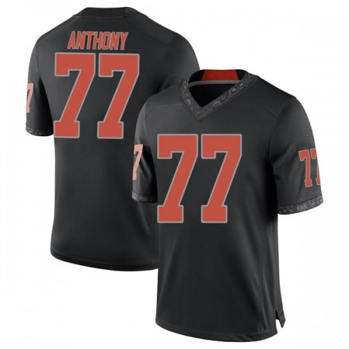 Men's Nike Hunter Anthony Oklahoma State Cowboys Game Black Football College Jersey