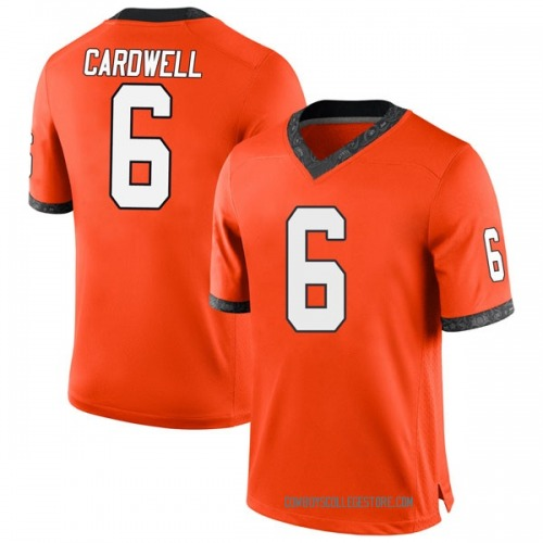 Men's Nike JayVeon Cardwell Oklahoma State Cowboys Game Orange Football College Jersey