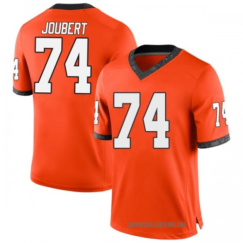 Men's Nike Larry Joubert Oklahoma State Cowboys Game Orange Football College Jersey