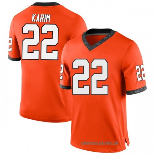 Men's Nike Taoheed Karim Oklahoma State Cowboys Game Orange Football College Jersey