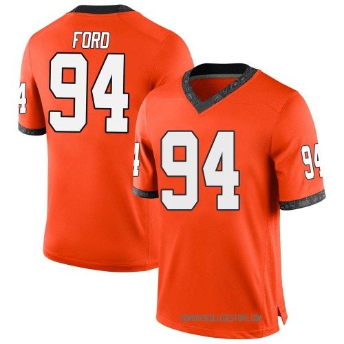 Men's Nike Trace Ford Oklahoma State Cowboys Game Orange Football College Jersey