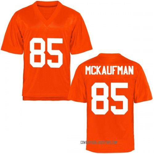 Men's Patrick McKaufman Oklahoma State Cowboys Game Orange Football College Jersey