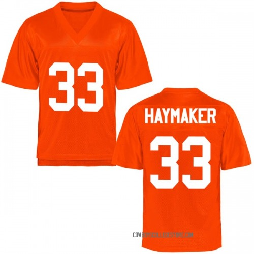Men's Ryan Haymaker Oklahoma State Cowboys Game Orange Football College Jersey