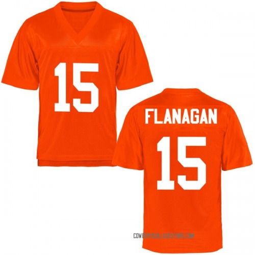 Men's Sean Michael Flanagan Oklahoma State Cowboys Replica Orange Football College Jersey