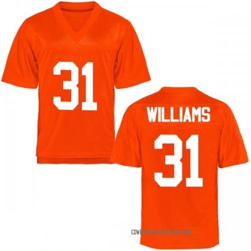 Men's Taje Williams Oklahoma State Cowboys Replica Orange Football College Jersey