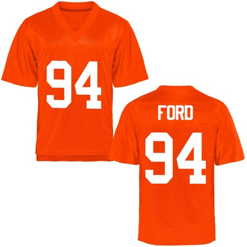Men's Trace Ford Oklahoma State Cowboys Game Orange Football College Jersey