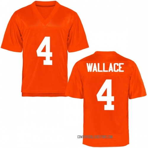 Men's Tracin Wallace Oklahoma State Cowboys Game Orange Football College Jersey