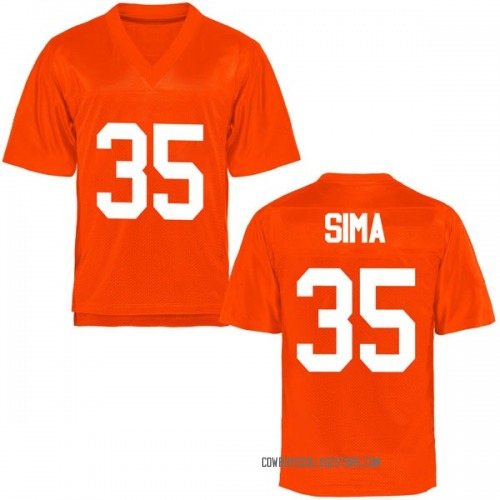 Men's Yankuba Sima Oklahoma State Cowboys Game Orange Football College Jersey