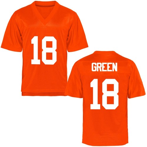 Men's Zacarrius Green Oklahoma State Cowboys Game Orange Football College Jersey
