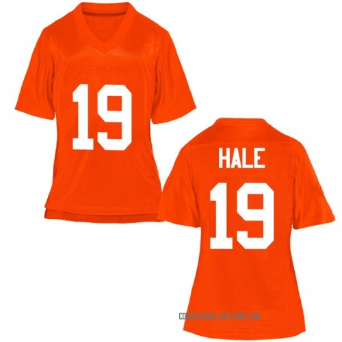 Women's Alex Hale Oklahoma State Cowboys Game Orange Football College Jersey