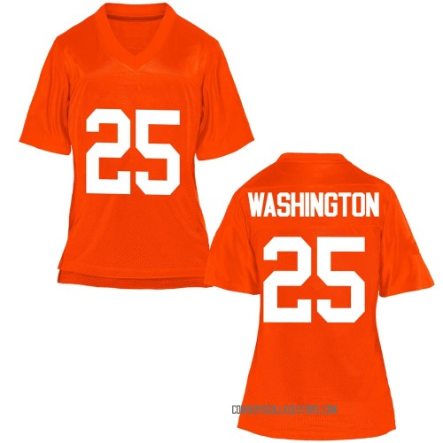 Women's Andre Washington Oklahoma State Cowboys Game Orange Football College Jersey