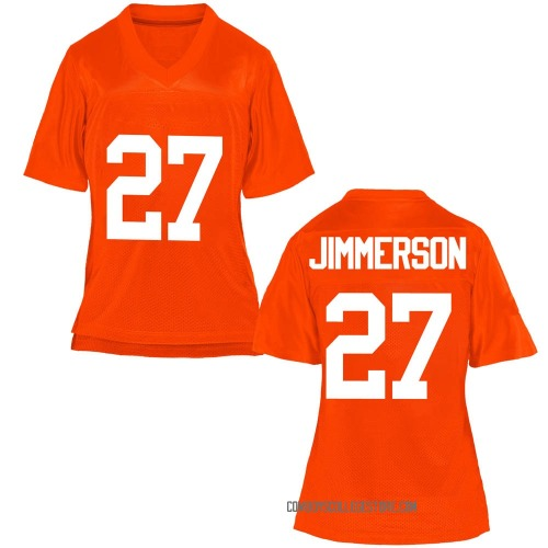 Women's Anthony Jimmerson Oklahoma State Cowboys Game Orange Football College Jersey
