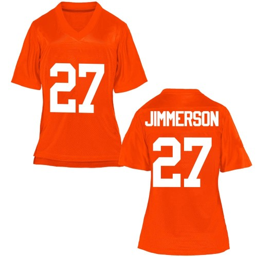 Women's Anthony Jimmerson Oklahoma State Cowboys Replica Orange Football College Jersey