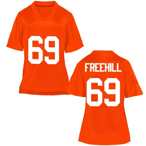 Women's Ben Freehill Oklahoma State Cowboys Replica Orange Football College Jersey