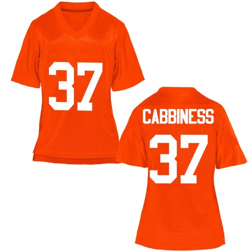 Women's Cale Cabbiness Oklahoma State Cowboys Game Orange Football College Jersey