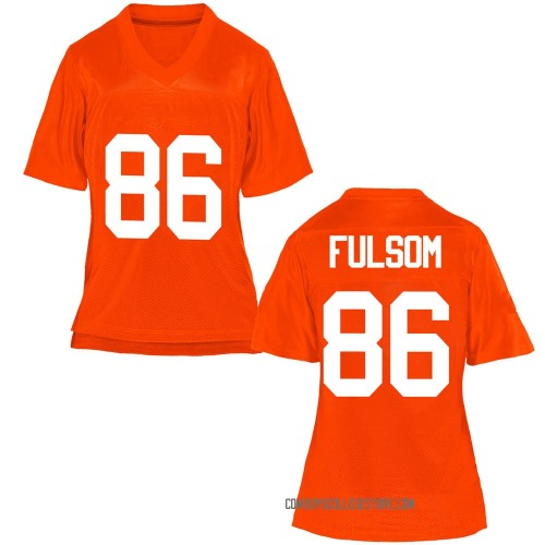 Women's Cale Fulsom Oklahoma State Cowboys Game Orange Football College Jersey