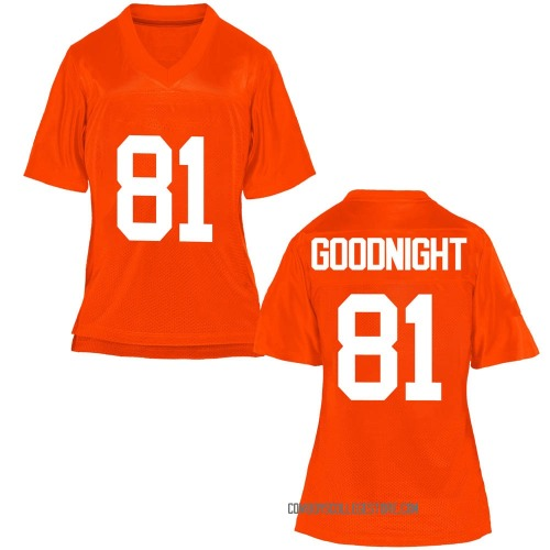 Women's Cole Goodnight Oklahoma State Cowboys Replica Orange Football College Jersey