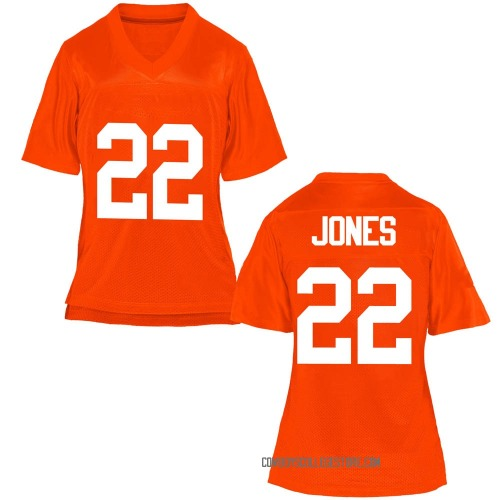 Women's Demarco Jones Oklahoma State Cowboys Replica Orange Football College Jersey