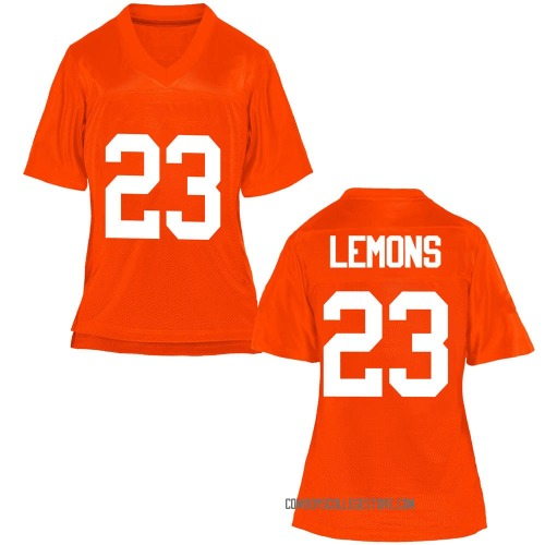 Women's Gabe Lemons Oklahoma State Cowboys Game Orange Football College Jersey