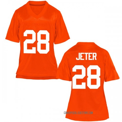 Women's Jahmyl Jeter Oklahoma State Cowboys Game Orange Football College Jersey
