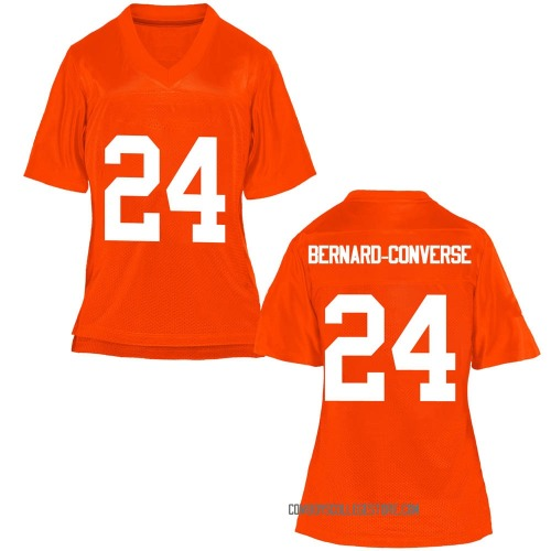 Women's Jarrick Bernard-Converse Oklahoma State Cowboys Game Orange Football College Jersey