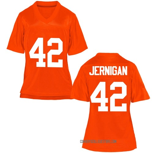 Women's Jayden Jernigan Oklahoma State Cowboys Replica Orange Football College Jersey