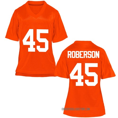 Women's Jeff Roberson Oklahoma State Cowboys Replica Orange Football College Jersey