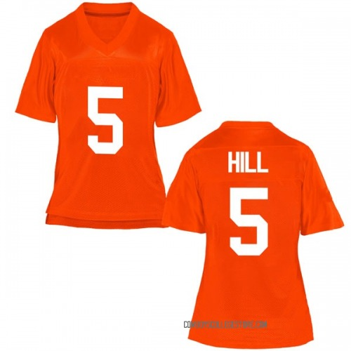 Women's Justice Hill Oklahoma State Cowboys Replica Orange Football College Jersey