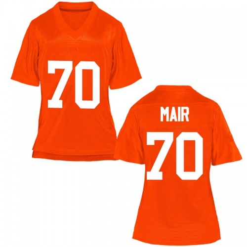 Women's Kevin Mair Oklahoma State Cowboys Game Orange Football College Jersey