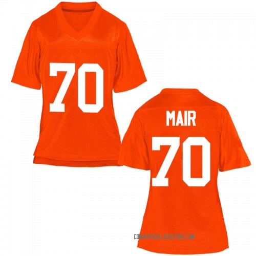 Women's Kevin Mair Oklahoma State Cowboys Replica Orange Football College Jersey