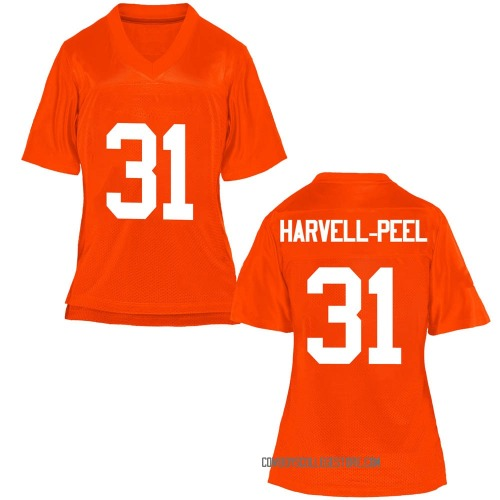 Women's Kolby Harvell-Peel Oklahoma State Cowboys Replica Orange Football College Jersey