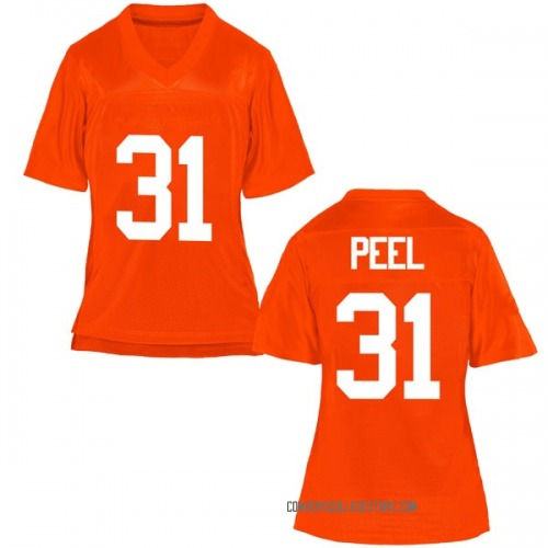 Women's Kolby Peel Oklahoma State Cowboys Replica Orange Football College Jersey