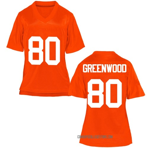 Women's LC Greenwood Oklahoma State Cowboys Replica Orange Football College Jersey
