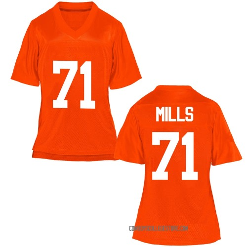 Women's Monroe Mills Oklahoma State Cowboys Replica Orange Football College Jersey
