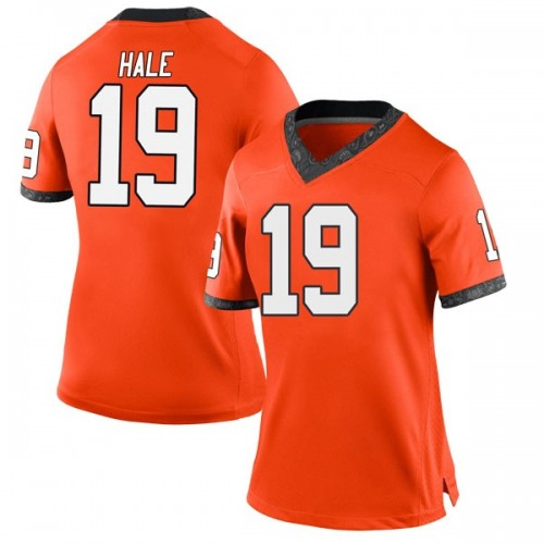Women's Nike Alex Hale Oklahoma State Cowboys Replica Orange Football College Jersey