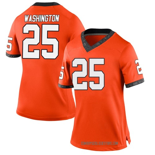 Women's Nike Andre Washington Oklahoma State Cowboys Game Orange Football College Jersey