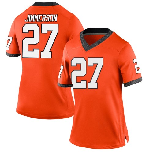Women's Nike Anthony Jimmerson Oklahoma State Cowboys Game Orange Football College Jersey
