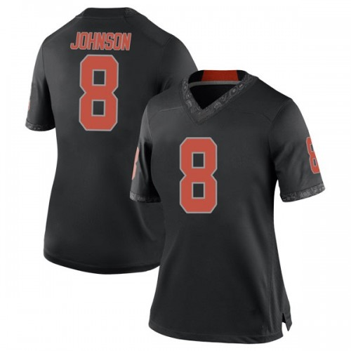 Women's Nike Braydon Johnson Oklahoma State Cowboys Replica Black Football College Jersey