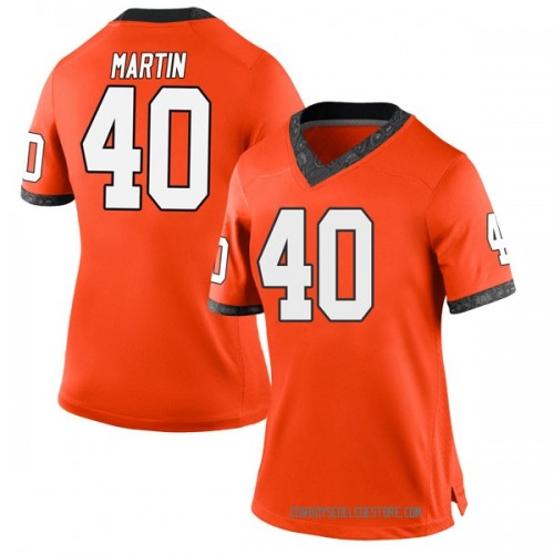 Women's Nike Brock Martin Oklahoma State Cowboys Game Orange Football College Jersey