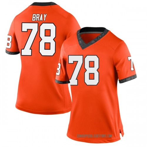Women's Nike Bryce Bray Oklahoma State Cowboys Game Orange Football College Jersey