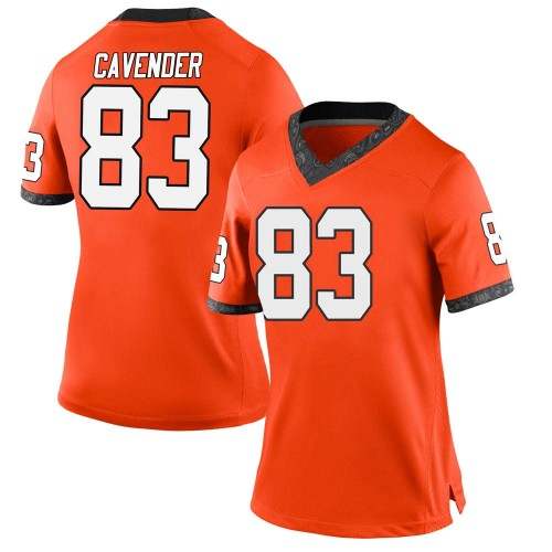 Women's Nike Cade Cavender Oklahoma State Cowboys Game Orange Football College Jersey