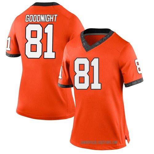 Women's Nike Cole Goodnight Oklahoma State Cowboys Game Orange Football College Jersey