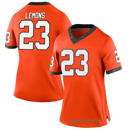 Women's Nike Gabe Lemons Oklahoma State Cowboys Game Orange Football College Jersey