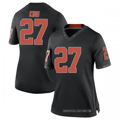 Women's Nike J.D. King Oklahoma State Cowboys Replica Black Football College Jersey