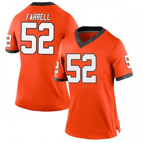 Women's Nike Jacob Farrell Oklahoma State Cowboys Game Orange Football College Jersey
