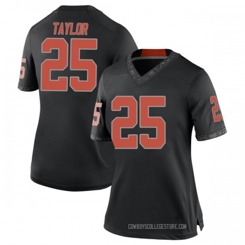 Women's Nike Jason Taylor II Oklahoma State Cowboys Replica Black Football College Jersey