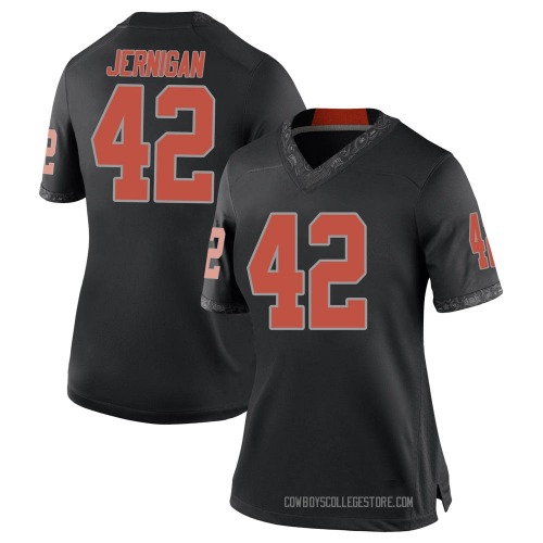 Women's Nike Jayden Jernigan Oklahoma State Cowboys Game Black Football College Jersey