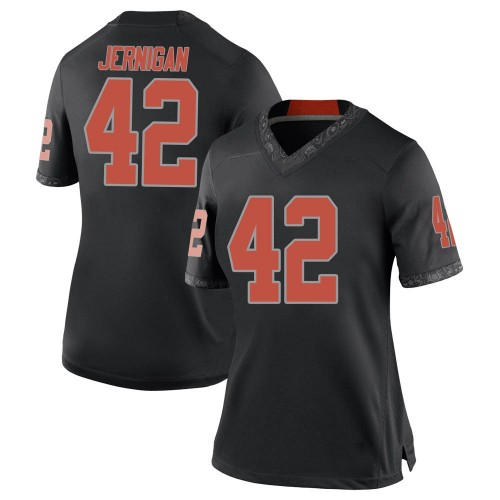 Women's Nike Jayden Jernigan Oklahoma State Cowboys Replica Black Football College Jersey