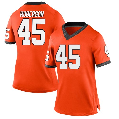 Women's Nike Jeff Roberson Oklahoma State Cowboys Game Orange Football College Jersey