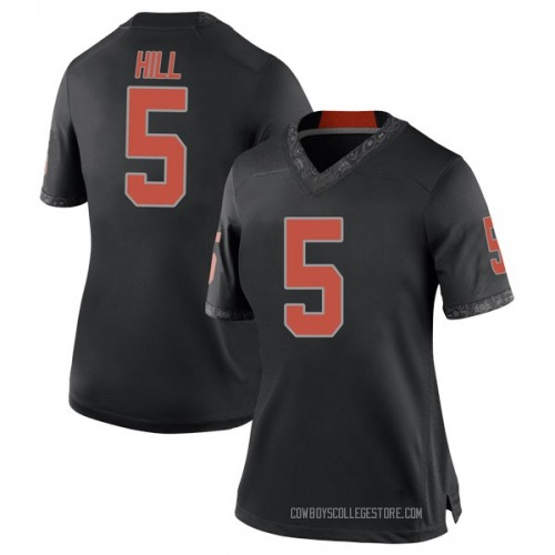 Women's Nike Justice Hill Oklahoma State Cowboys Replica Black Football College Jersey